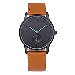 Lord timepieces watch solitude black blue tan leather watches for Lord timepieces