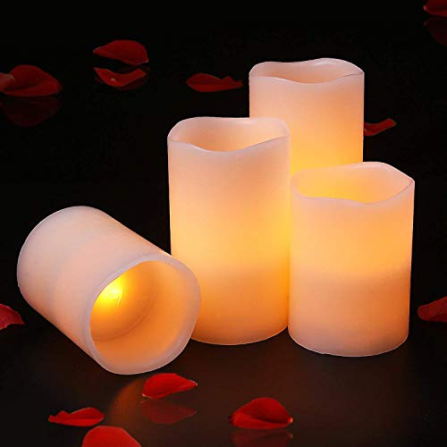 Halloween Led Tea Lights, Battery Powered Flameless Candles for Indoor and Outdoor, Home (4PCS) ()