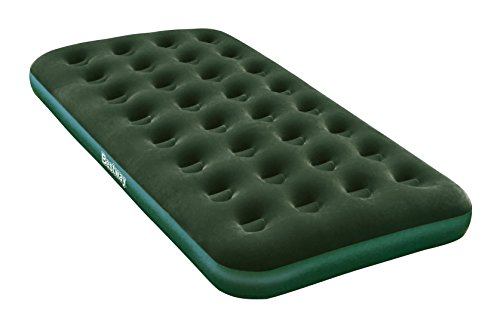 Bestway 67553E Flocked Air Bed Twin with Battery Operated Pump
