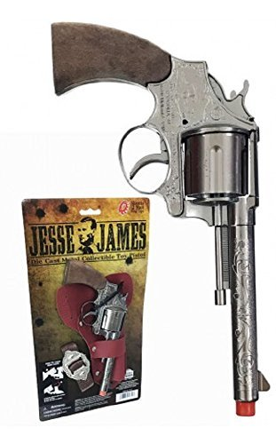Parris Manufacturing Jesse James Pistol Holster Set Toy]()