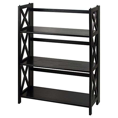 Casual Home 301-32 Montego 3-Shelf Folding Bookcase, (3 Tier Bookcase Shelf)