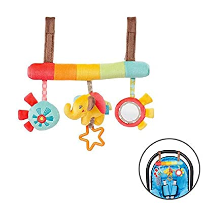 Baby Doll, Activity Spiral Stroller Car Seat Travel Hanging Bell Toys Baby Rattles Toy, Baby Bed Around Bed Trailer Hanging Baby Rattle: Arts, Crafts & Sewing