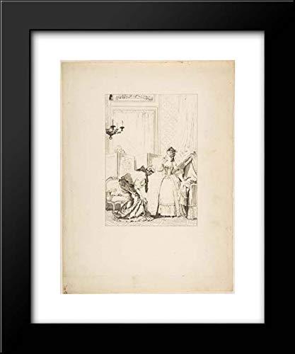 Jean de La Fontaine - Jean Honore Fragonard - Jean-Louis Delignon - Pierre Didot l'aine - 15x18 Framed Museum Art Print- Le Cocu battu et Content, from Contes et nouvelles en vers par Jean de La Font
