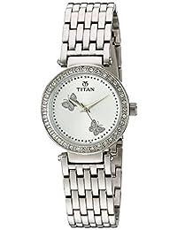 Titan Women's 9799SM01 Purple Analog Display Quartz Silver Watch