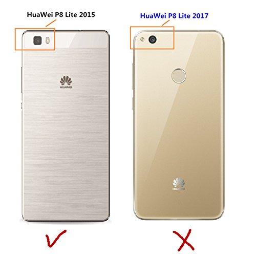in vendita b077b c5007 LXHGrowH Huawei P8 Lite Cover, Custodia a Specchio per Huawei P8 Lite Gel  Silicone Custodia Bumper Custodia Cellulare Cover Case Protettiva in Rosa