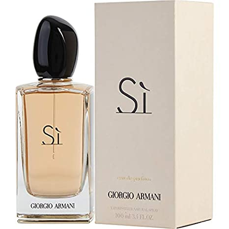 Amazoncom Giorgio Armani Si Eau De Parfum Spray For Women 34
