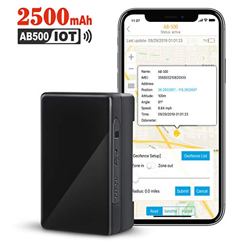ABLEGRID GPS Tracker, 30-Days 2500mAh IoT Real-time GPS Tracking Device NB-IoT Cat-M 4G Small Hidden GPS Locator for Vehicle, Car, Personal, Valuable - with Global SIM Card