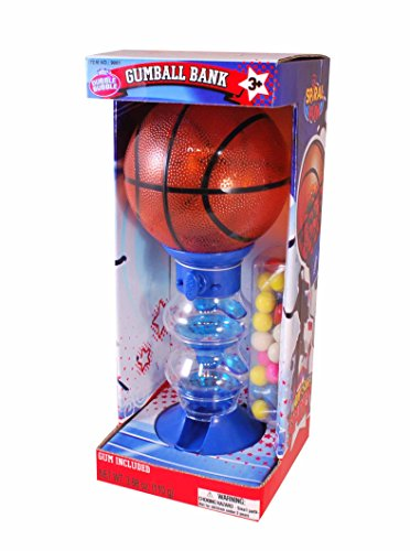 Basketball Gumball - Dubble Bubble Basketball Gumball Bank, 1.15 Pound