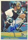 Lance Parrish autographed Baseball Card (Detroit Tigers) 1984 Donruss #49