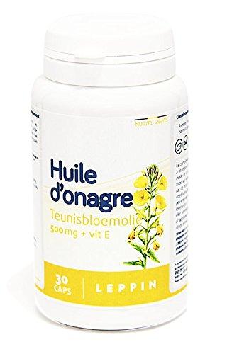 Leppin – Aceite de onagro 500 mg + Vit E 30 Cápsulas aceites (– Equilibre