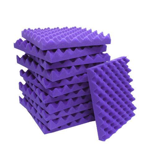 12 Pack Purple Eggcrate Acoustic Foam Sound Proof Foam Panels Noise Dampening Foam Studio Music Equipment 1.5 x 12 x 12