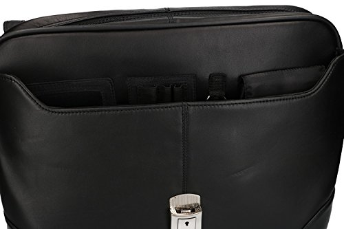 Real Bag Leather Man Orna In Vh100 916 Black Folder Work Travel And S1zx6gSwqn