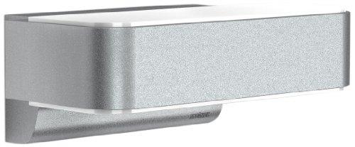 Steinel Up-/Downlight L 810 LED iHF silber, Sensor Außenleuchte mit 12,5 Watt LEDs und 612 Lumen, Wandleuchte mit 160° Hochfrequenz Bewegungssensor mit max. 5 m Reichweite, 671310