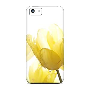 Iphone 5c Hard Back With Bumper Cases Covers Morning Dew On Tulips