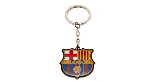 Amazon.com: Metal Llavero con escudo – F.C Barcelona: Sports ...