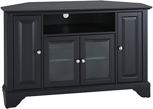 Crosley Furniture LaFayette 48-inch Corner TV Stand - Black