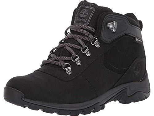 Timberland Women's Mt. Maddsen Mid Leather Waterproof Hiker Hiking Boot, Black Nubuck, 080M M US