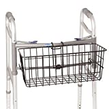 Vinyl Coated Walker Basket with Snap Hooks 7-1/2'' x 17'' x 7''