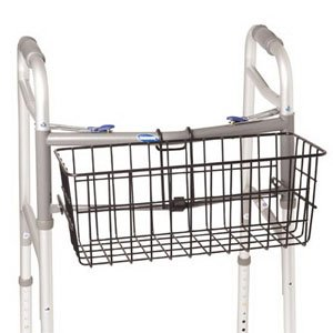 Vinyl Coated Walker Basket with Snap Hooks 7-1/2