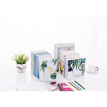 Kentop Presse-Livres Pliable r/étractable /Étag/ères Livres Support Motif de Feuilles Serre-Livres Extensible m/étal Support de Livre D/écoration pour Bureau