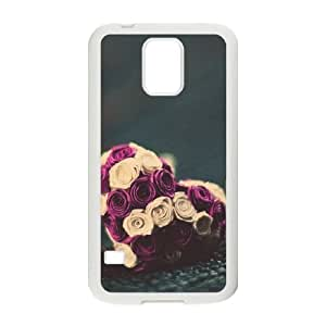 Samsung Galaxy s5 White Cell Phone Case Heart Pattern LWDZLW0301 Phone Case Cover Personalized Hard