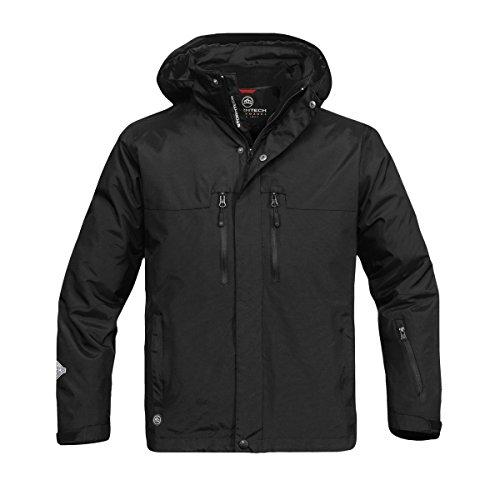 (Stormtech Mens Hooded Beaufort 3-in-1 System Jacket (Waterproof & Breathable) (XL) (Black))