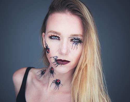Adhesivo Crew® Halloween Tattoo araña Tatuajes temporales, 6 ...