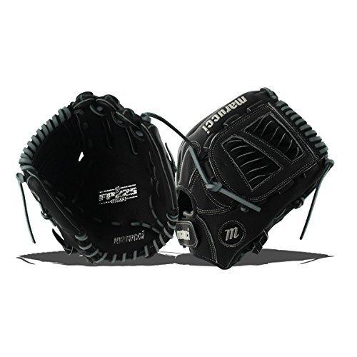 Marucci MFGFP12S-BK/GY-RG FP225 Series Softball Fielding Gloves, Black/Gray, 12'' by Marucci