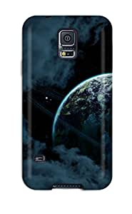Rugged Skin Case Cover For Galaxy S5- Eco-friendly Packaging(planets)