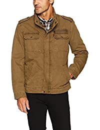 Men's Washed Cotton Two Pocket Military Jacket
