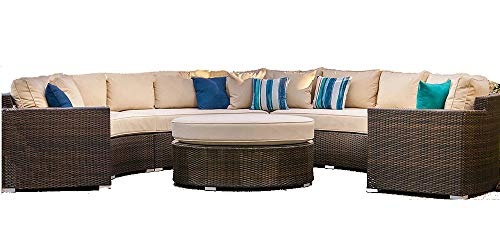 Outdoor Patio 5-Piece Conversation Set with Cushions Monte Carlo
