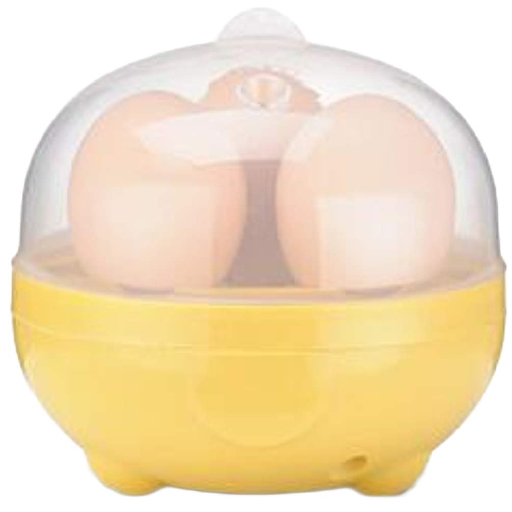 Multi-Function Automatic Mini Egg Cooker for up to 3 Eggs (Yellow)