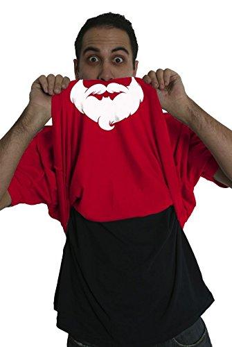 [Santa Flipup T Shirt Cool Christmas Shirt Costume Flip Tee for Xmas (red) XL] (Pun Costumes For Guys)