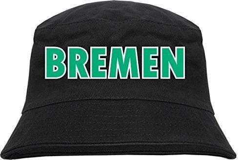 Bremen Fischerhut - Bucket Hat Blockschrift grün weiss