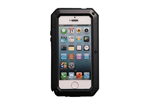 روکش فلزی آلومینیوم Eheer Extreme leşkerî وظیفه پوشش آرمور Gorilla Glass Shock Dust Dood برای Apple iPhone 5 5S Black