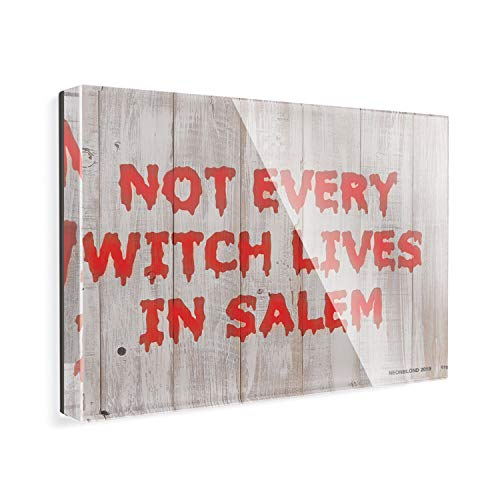 (Acrylic Fridge Magnet Not Every Witch Lives in Salem Halloween Bloody Wall NEONBLOND)