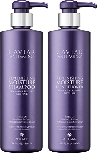 Caviar Anti-Aging Replenishing Moisture Shampoo and Conditioner Set, 16.5-Ounce by Alterna