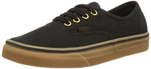 Vans Unisex Authentic Black/Rubber Skate Shoe 5.5 Men US / 7 Women US by Vans
