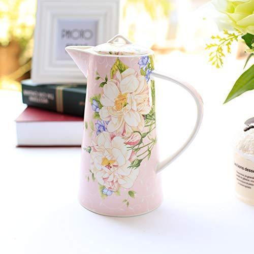 KTYXGKL Pink Bone China Jug Home Ceramic Pot European Heat-resistant Teapot 11.3x20.5cm Electric kettle