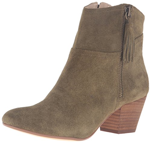 Nine West Women's Hannigan Suede Ankle Bootie, Dark Green, 5 M (Nine West Green Boots)