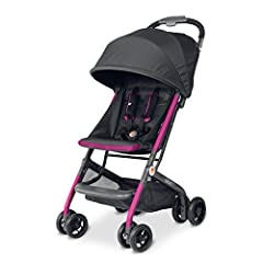 The GB Qbit is the ultimate travel stroller. Sleek, small, and sturdy, the Qbit folds to fit perfectly in the back seat for a road trip, and in many overhead compartments. It's uniquely designed transport bag provides protection from departur...