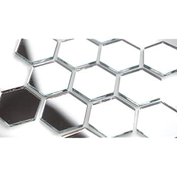 100 pcs 1 Hexagonal Mirror Mosaic Tile