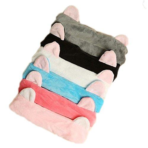 Face Metal Band (Caitao 6pcs/pack Cute Cat Ear Hair Band For Women Wash Face Elastic Headband Hood)