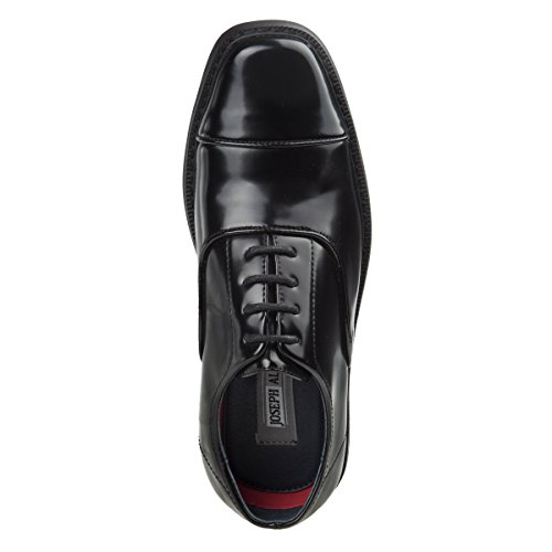 Joseph Allen Boys Wing Tip Perforated Oxford Dress Shoe (Toddler, Little Kid, Big Kid) (6 M US Big Kid, Black Cap Toe)' by Joseph Allen (Image #2)