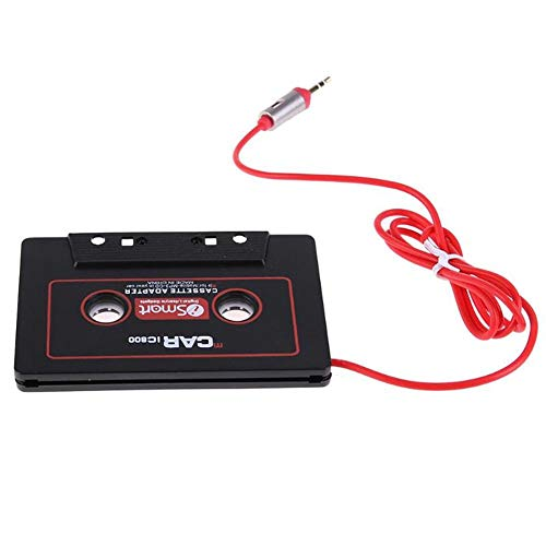 Universal Car Audio Travel Cassette Adapter 3.5mm AUX Audio Music Cassette Tape Player Adapter Car Audio Stereo Tape Cassette Aux Adapter Compatible for iPhone, iPod, iPad, Android Phones