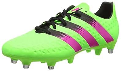 adidas Ace 16.3 SG, Botas de Fútbol Para Hombre, Verde/Rosa/Negro (Versol/Rosimp/Negbas), 39 1/3 EU
