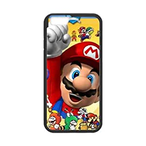 Super Mario Bros iPhone 6 Plus 5.5 Inch Cell Phone Case Black gift W9605615