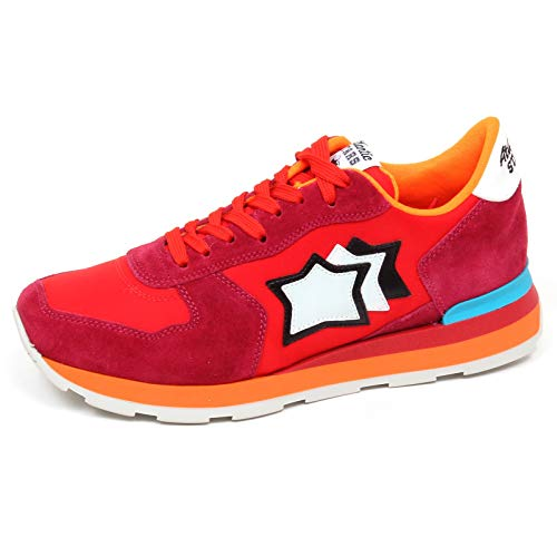 Donna ciclamino Sneaker Red E9860 Scarpe Rosso Vega Woman Stars Shoe Atlantic qtxSwPnvHH