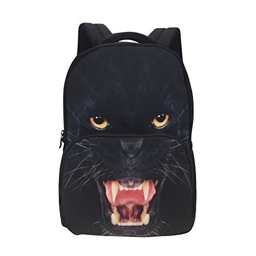 Face Panther (Animal School Bag Children's Age6-16 Polyester 17 Inch Laptop Backpack (Panthers))