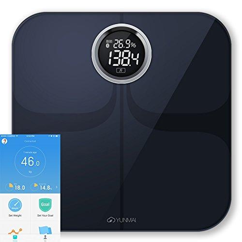 Yunmai Premium Smart Digital Body Fat BMI Weight Scale 10 Body Health Data Track With Free APP Black